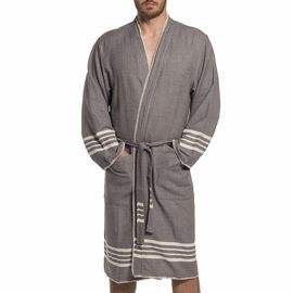 BATHROBE COBAN KS  - DARK GREY (MAN)
