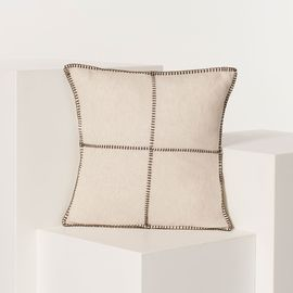 Cushion Cover / Patchwork - Brown stitched 40x40 cm
