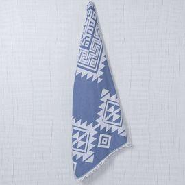UBERTY JAQUARD TOWEL  - DENIM BLUE