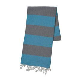 Peshtemal - Tenedos /  Dark Grey - Turquoise