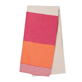TOWEL KSC3 - DOUBLE FACE / FUCSHIA - ORANGE