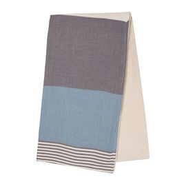 TOWEL KSC3 DOUBLE FACE / DARK GREY - AIR BLUE