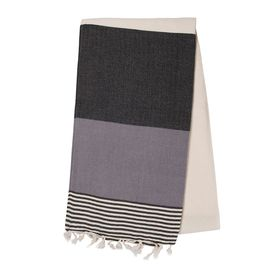 TOWEL KSC3 - DOUBLE FACE / BLACK - DARK GREY