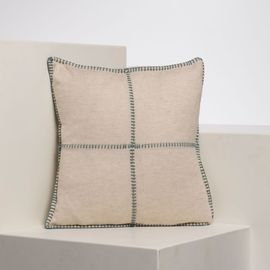 Cushion Cover / Patchwork - Almond Green stitched 40x40 cm