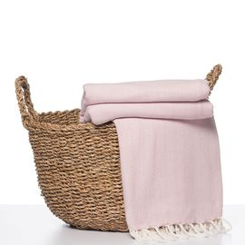 Throw Zigzag - Rose Pink