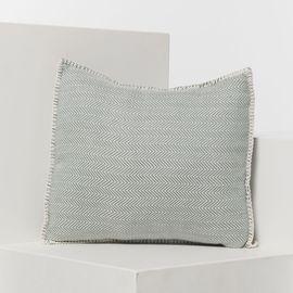 ZIGZAG CUSHION - ALMOND GREEN 40 x 40 CM