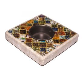 Candle Holder Lodge - Travertine 48A
