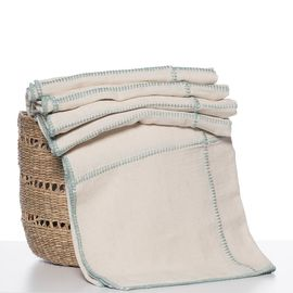 THROW LINEN PATCHWORK - MINT STITCHED