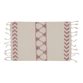 Peshkir Mini Towel - Hand Printed 06 / Dusty Rose (30x50)