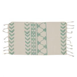 Peshkir Mini Towel - Hand Printed 06 / Mint (30x50)