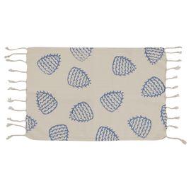 HAND PRINTED MINI TOWEL FERTILITY - BLUE 30 x 50 CM
