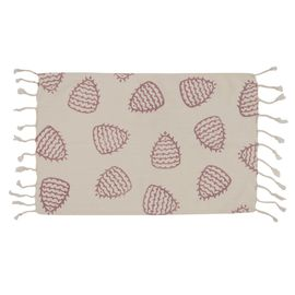 Peshkir Mini Towel - Hand Printed 05 / Dusty Rose (30x50)