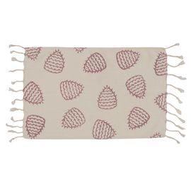 HAND PRINTED MINI TOWEL FERTILITY - ROSE PINK 30 x 50 CM