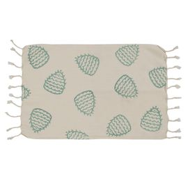 Peshkir Mini Towel - Hand Printed 05 / Mint (30x50)