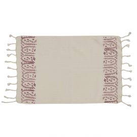 Peshkir Mini Towel - Hand Printed 01 / Dusty Rose (30x50)