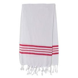 WHITE KREM SULTAN  MINI TOWEL - FUCSHIA