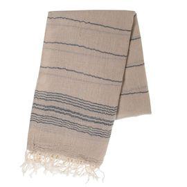 Peshtemal / Pareo  TOPRAK - Beige/Navy Stripes