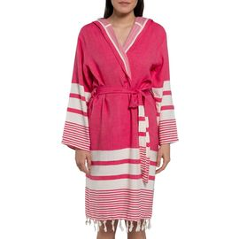Bathrobe Tabiat with hood - Fuchsia