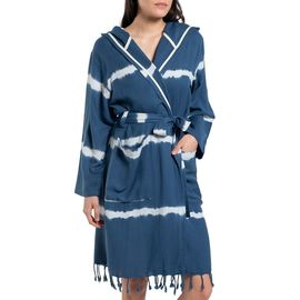 Bathrobe Tie Dye with hood - Navy  Base