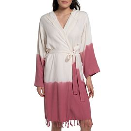 Bathrobe Tie Dye with hood - Dusty Rose