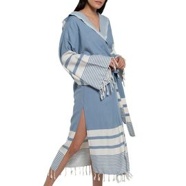 BATHROBE TUBA BAMCOT LONG / AIR BLUE