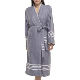 BATHROBE COBAN KS  -  DARK GREY
