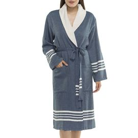 BATHROBE NIL KS - WITH TERRY /  NAVY