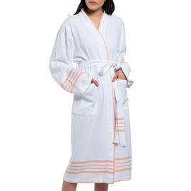 Bathrobe White Sultan - Melon Stripes