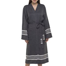 Bathrobe Sultan kimono collar - Black