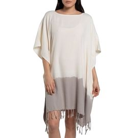 Tunic Minzi / Tie Dyed Edges Taupe