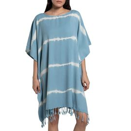 TUNIC DAISY /  TIE DYED BASE LIGHT BLUE