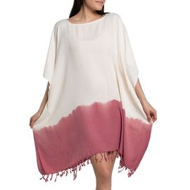 Tunic Minzi / Tie Dyed Edges Dusty Rose