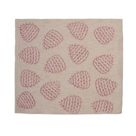 Service Mat/ Napkin - Hand Printed 05 / Dusty Rose