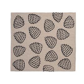 Service Mat/ Napkin - Hand Printed 05 / Black
