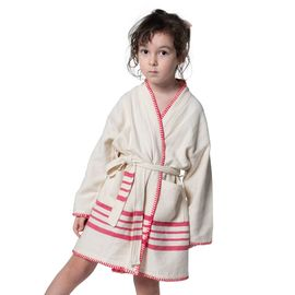 Bathrobe Kiddo Coban - Fuchsia Stripes