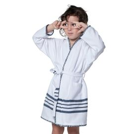 Bathrobe Kiddo Coban  WS - White / Navy
