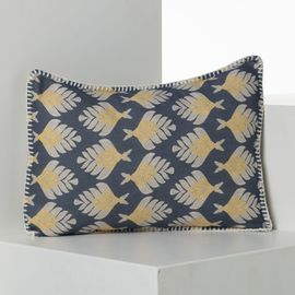 CUSHION COVER / SANTORINI SKY NAVY  - PRINTED FABRİC