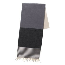 TOWEL KSC3 - DOUBLE FACE / DARK GREY - BLACK