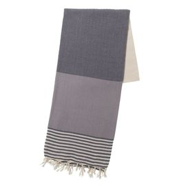 TOWEL KSC3 DOUBLE FACE / DARK GREY - LIGHT GREY