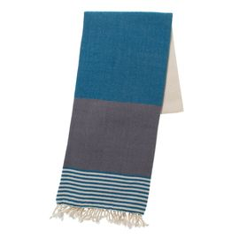 TOWEL KSC3 - DOUBLE FACE - PETROL BLUE / DARK GREY
