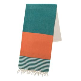 TOWEL KSC3 DOUBLE FACE / FANFARE GREEN - ORANGE