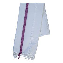 Peshtemal Mare - White/Purple