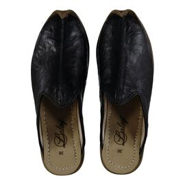 Leather Slipper / Handmade - Black