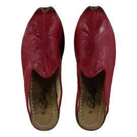 Leather Slipper / Handmade - Red