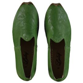 Shoe - Babouche / Leather / Handmade - Green