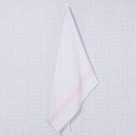 Peshtowel SLPAN - White / Pink Stripes
