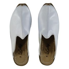 Leather Slipper / Handmade - White
