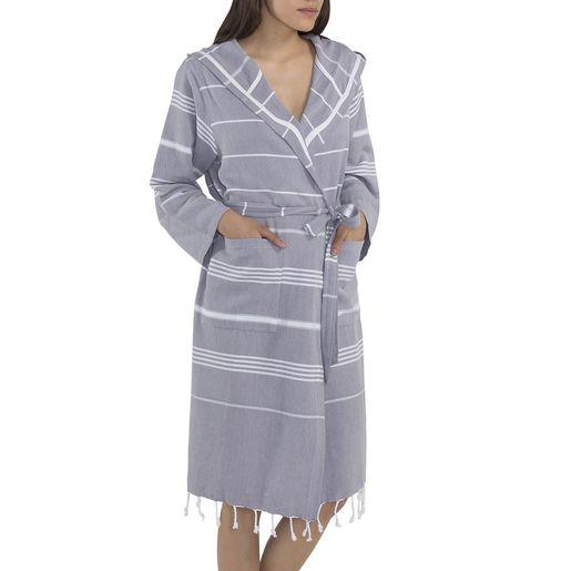 Bathrobe Leyla CP - Light Grey