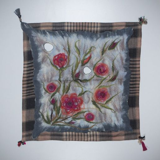 Decorative Cover -  Handmade Silk / Felted 3