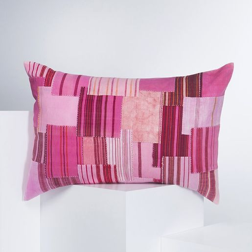 Cushion Cover - Patchwork BR 45 x 30  - Pink